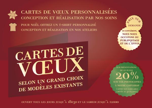 Flyer cartes de Voeux Imprimeie Espace Graphic Lausanne Vaud
