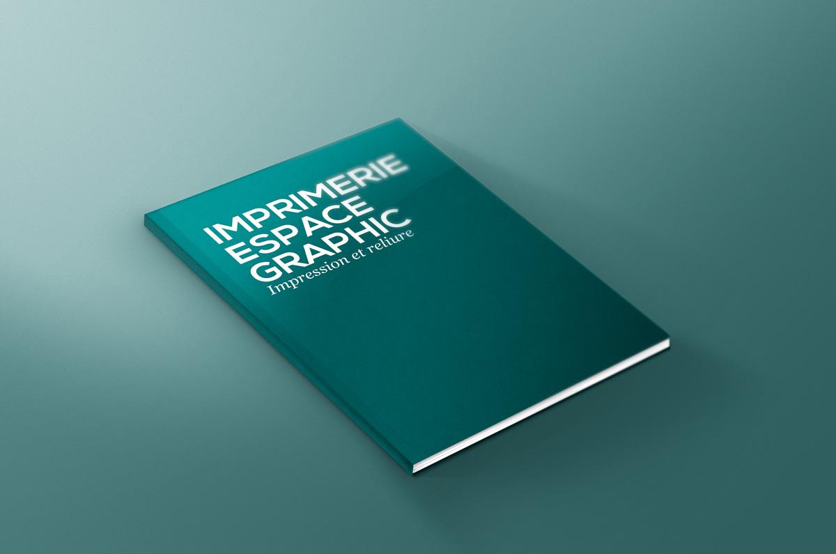 Impression et reliure de dossiers à l'imprimerie Espace Graphic à Lausanne