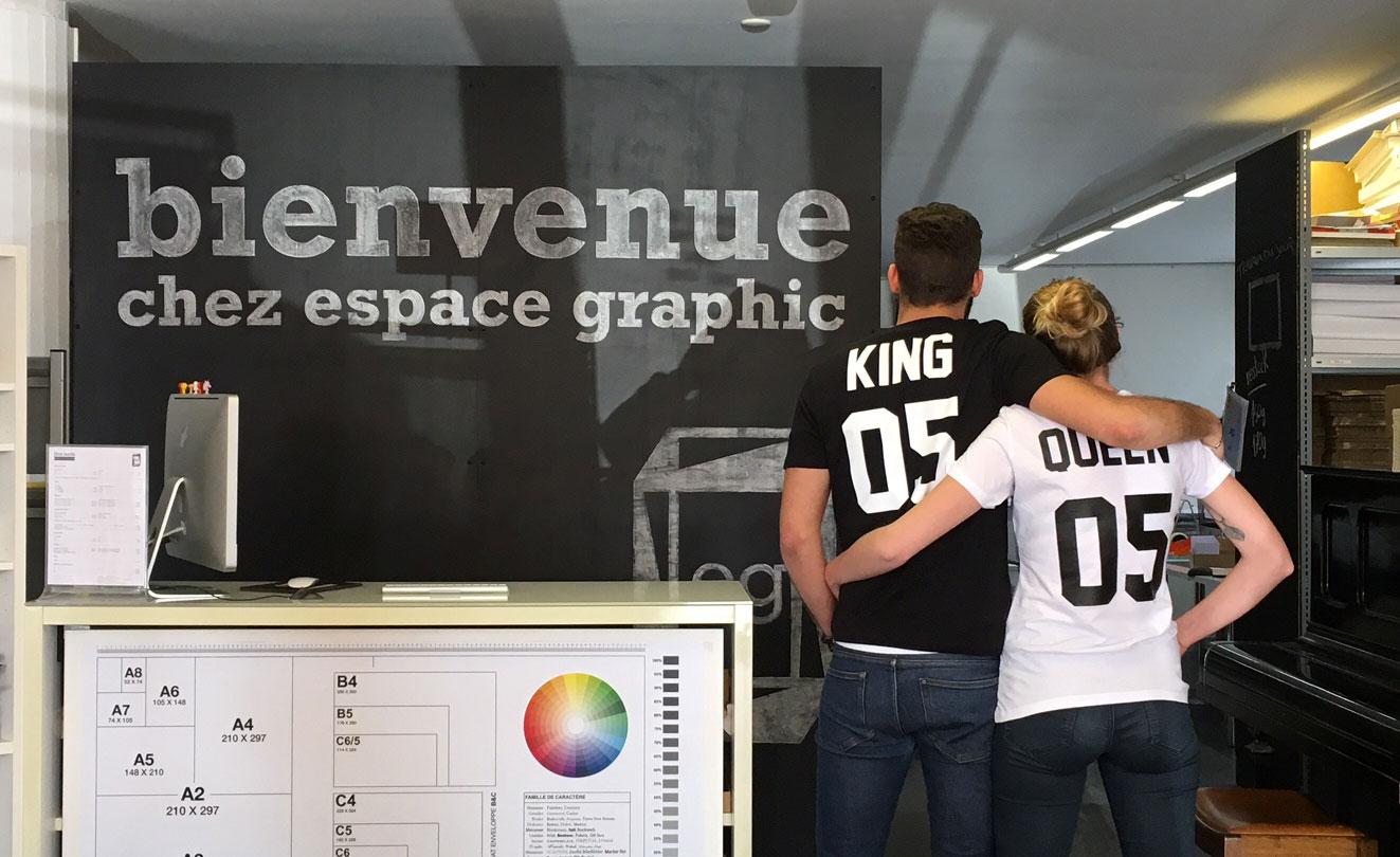 T-shirts originaux à l'imprimerie espace-graphic à Lausanne
