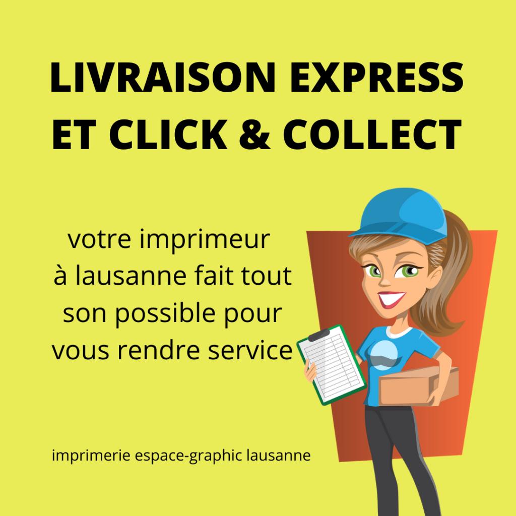 Click & Collect Lausanne, imprimerie lausanne